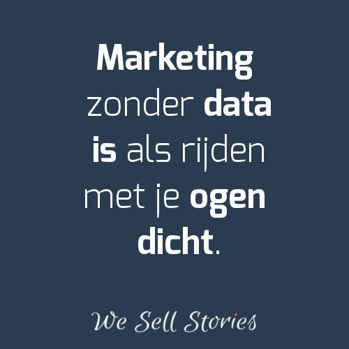 Marketing zonder data - We Sell Stories