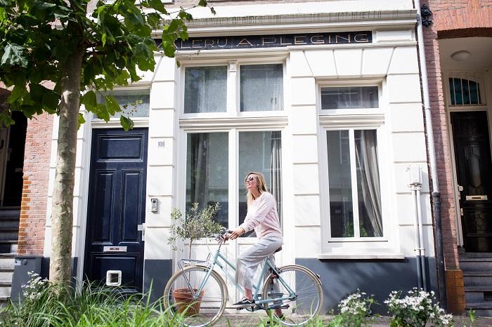 Mamablogger bettina op de fiets